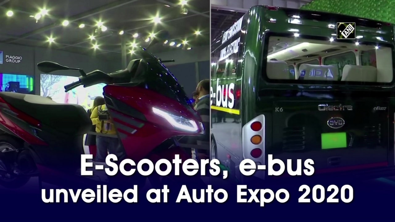 E-Scooters, e-bus unveiled at Auto Expo 2020