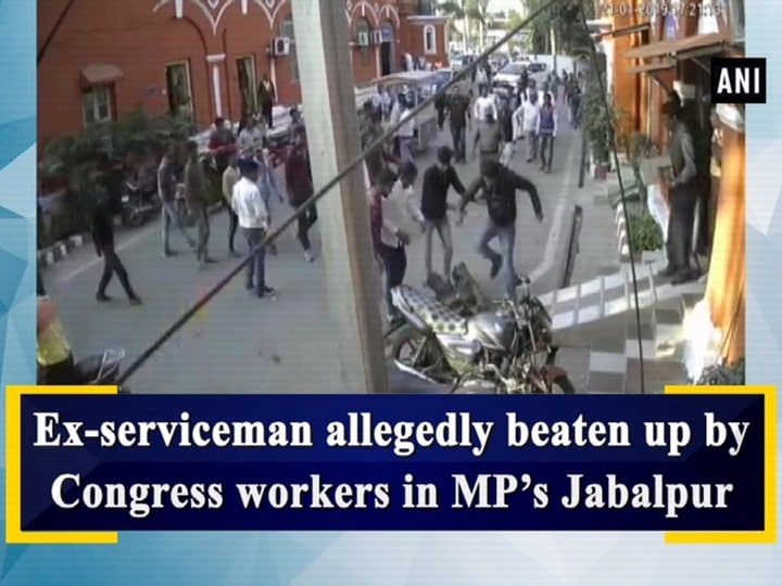 Ex-serviceman allegedly beaten up by Congress workers in MP's Jabalpur
