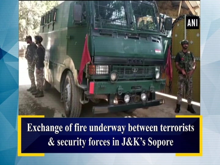 Exchange of fire underway between terrorists and security forces in JandK's Sopore