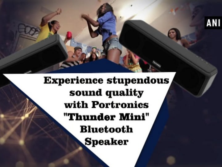 """Experience stupendous sound quality with Portronics """"Thunder Mini"""" Bluetooth Speaker"""