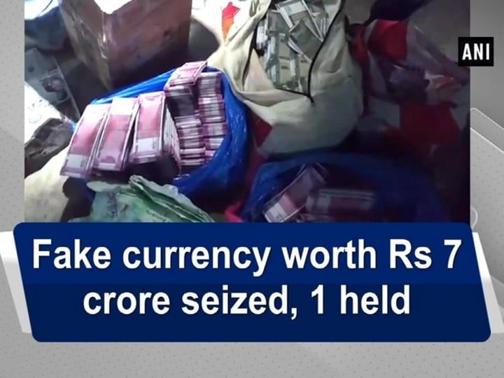 Fake currency worth Rs 7 crore seized, 1 held