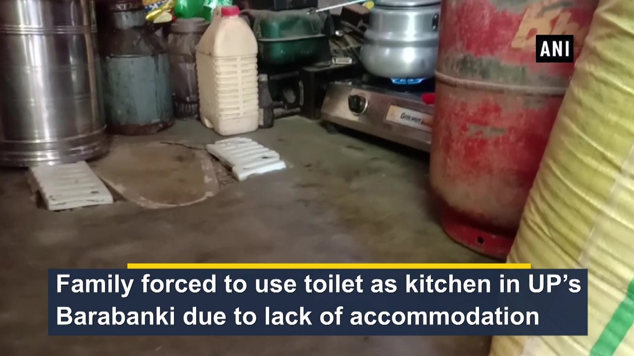 Family forced to use toilet as kitchen in UP's Barabanki due to lack of accommodation