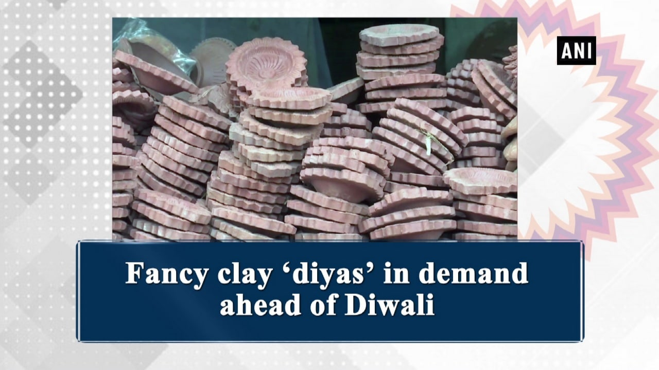 Fancy clay 'diyas' in demand ahead of Diwali