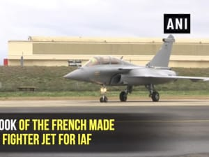 First look of the French made Rafale fighter jet for IAF