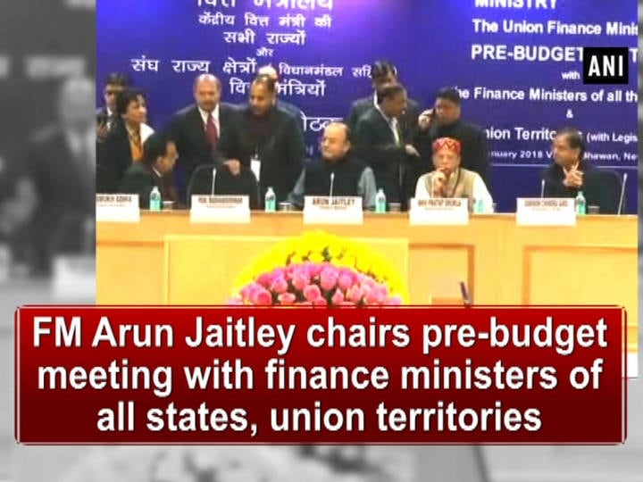 FM Arun Jaitley chairs pre-budget meeting with finance ministers of all states, union territories