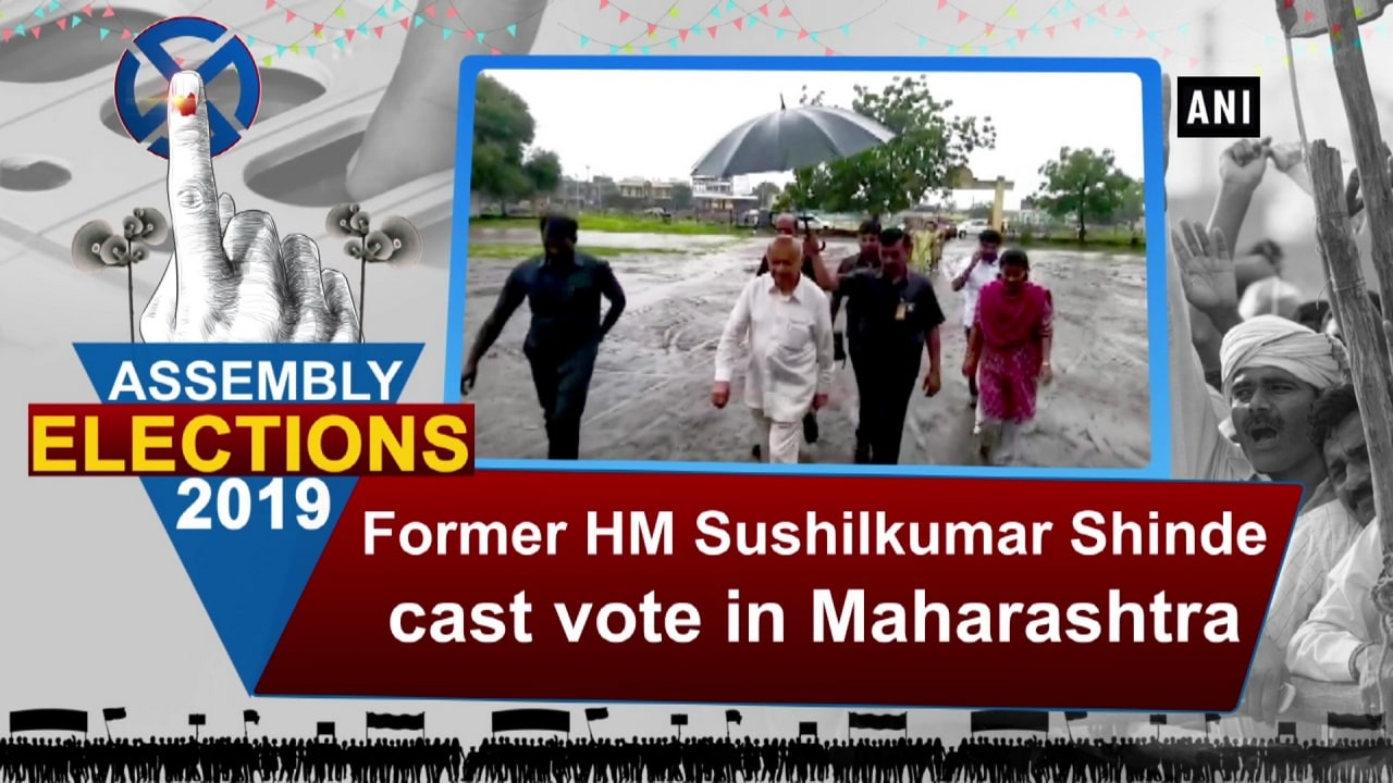 Former HM Sushilkumar Shinde cast vote in Maharashtra