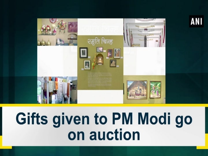 Gifts given to PM Modi go on auction