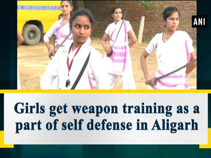 Girls get weapon training as a part of self defense in Aligarh