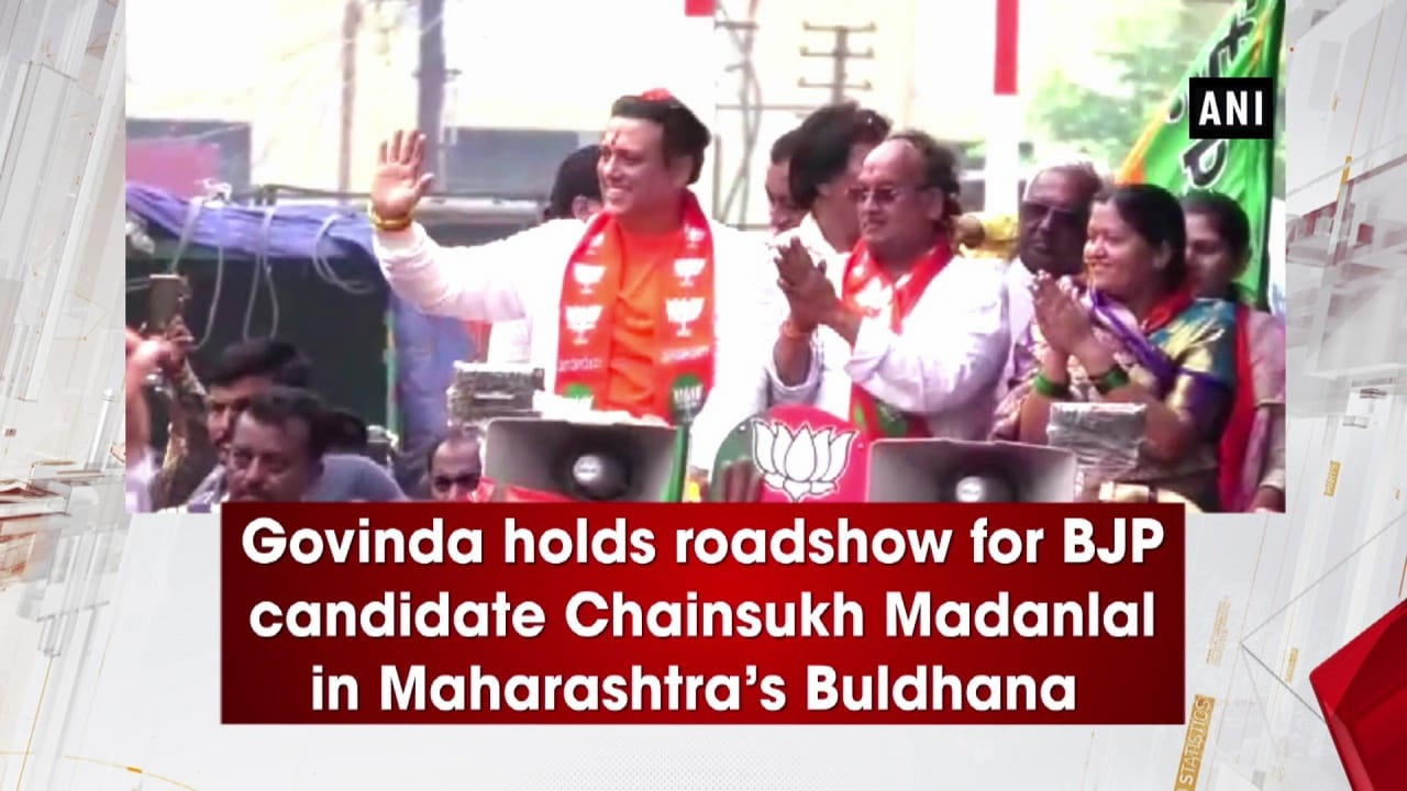 Govinda holds roadshow for BJP candidate Chainsukh Madanlal in Maharashtra's Buldhana