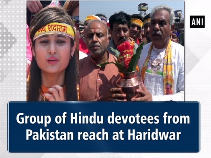 Group of Hindu devotees from Pakistan reach at Haridwar