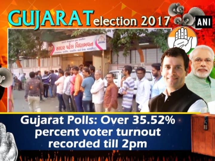 Gujarat Polls: Over 35.52% percent voter turnout recorded till 2pm