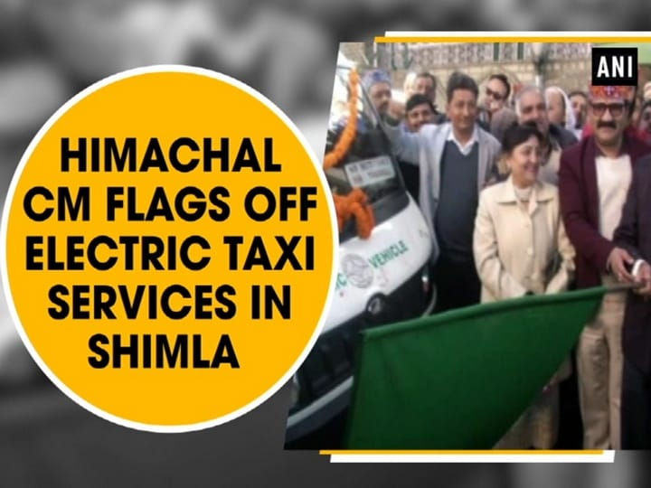 Himachal CM flags off Electric Taxi Services in Shimla