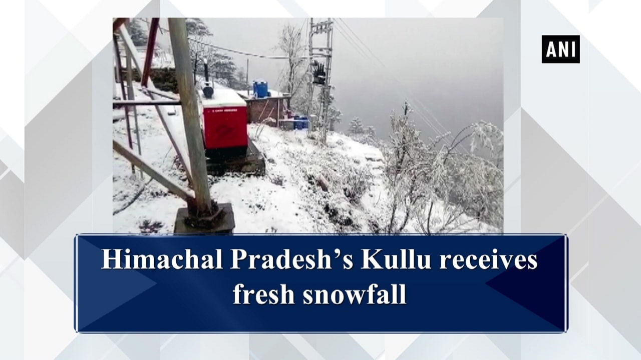 Himachal Pradesh's Kullu receives fresh snowfall