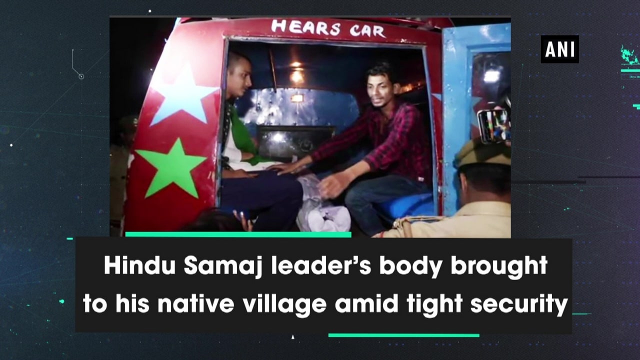 Hindu Samaj leader's body brought to his native village amid tight security