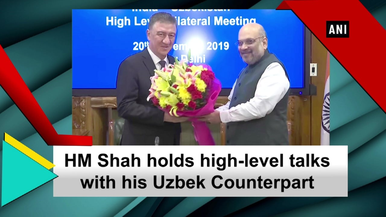 HM Shah holds high-level talks with his Uzbek Counterpart
