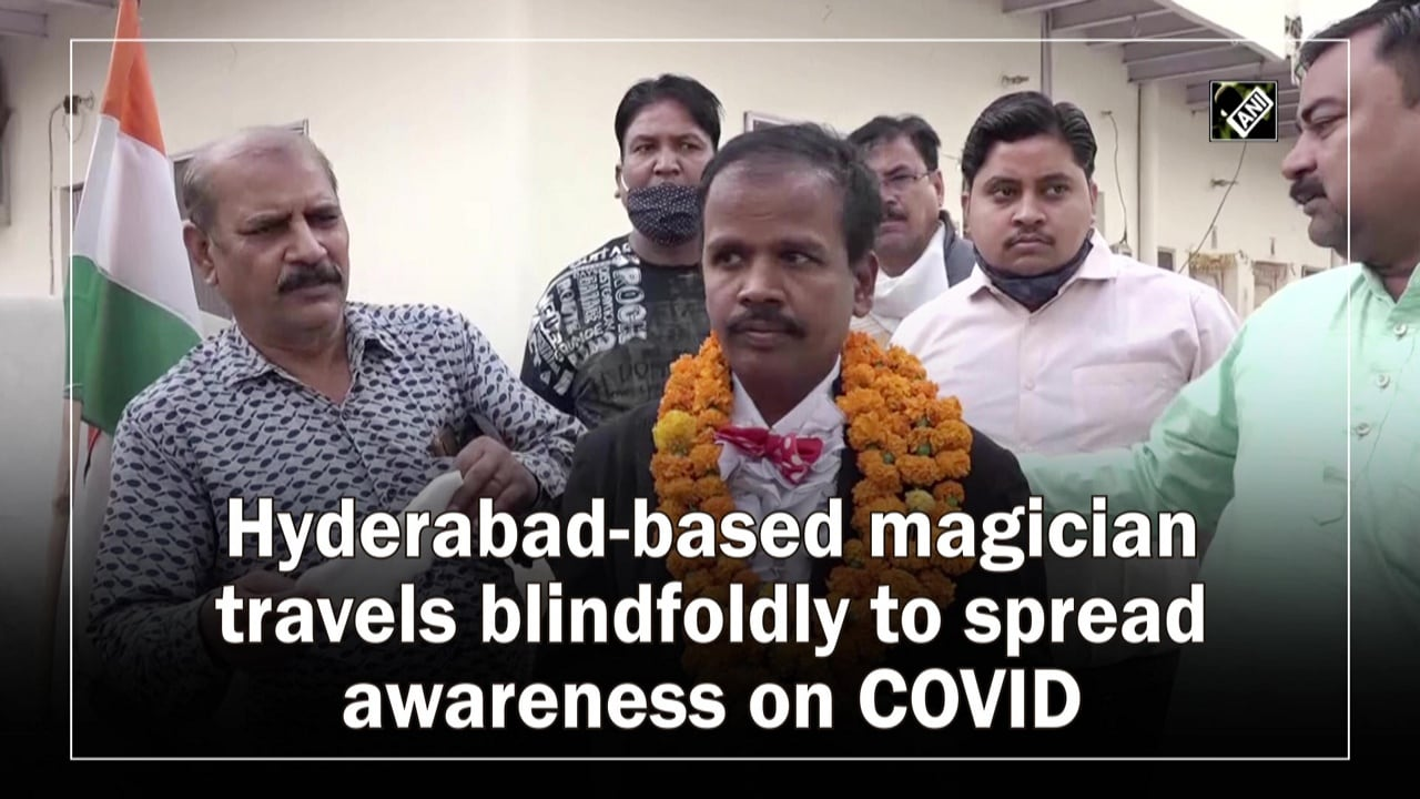 Hyderabad-based magician travels blindfoldly to spread awareness on COVID