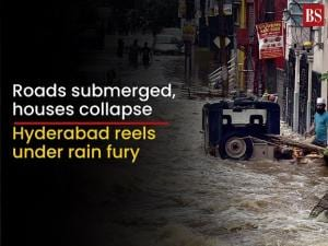 Hyderabad reels under rain fury: Roads submerged, houses collapse