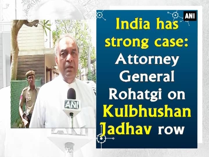 India has strong case: Attorney General Rohatgi on Kulbhushan Jadhav row