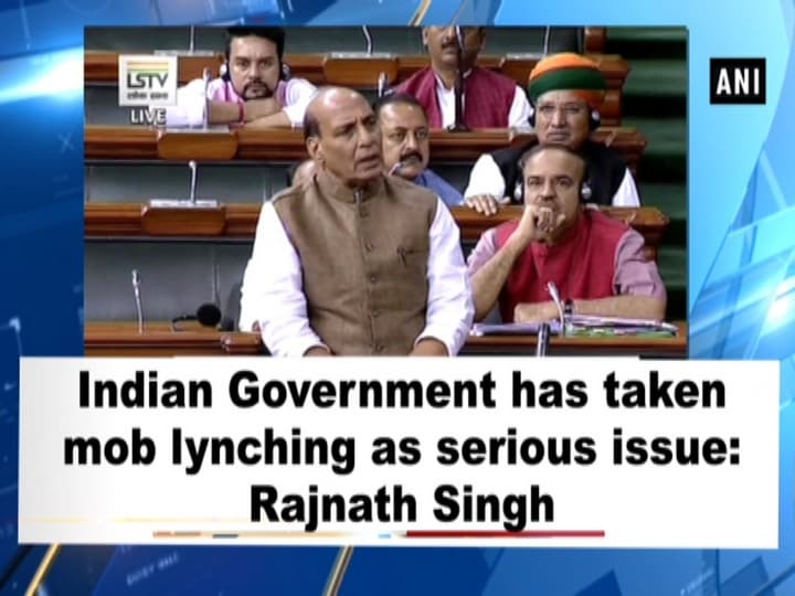 Indian Government has taken mob lynching as serious issue: Rajnath Singh