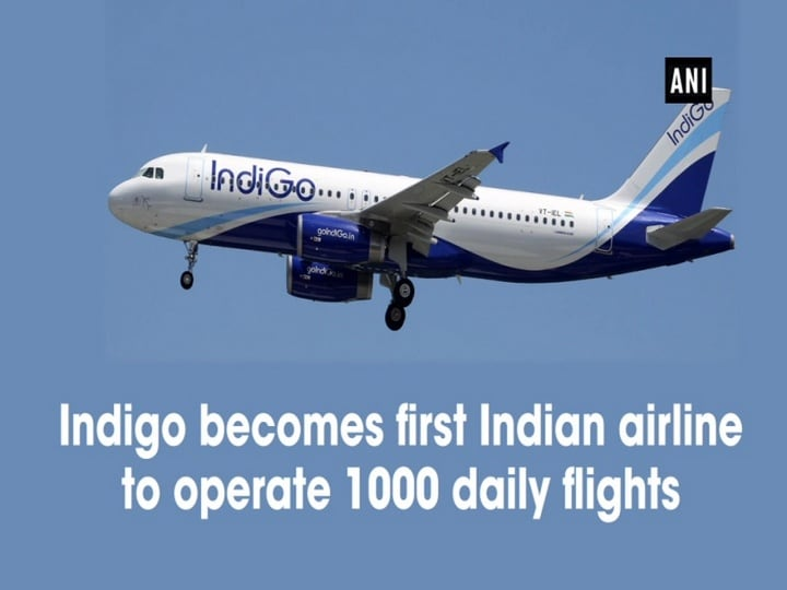 Indigo becomes first Indian airline to operate 1000 daily flights