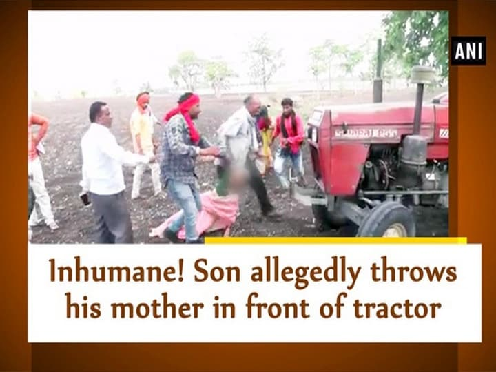Inhumane! Son allegedly throws his mother in front of tractor