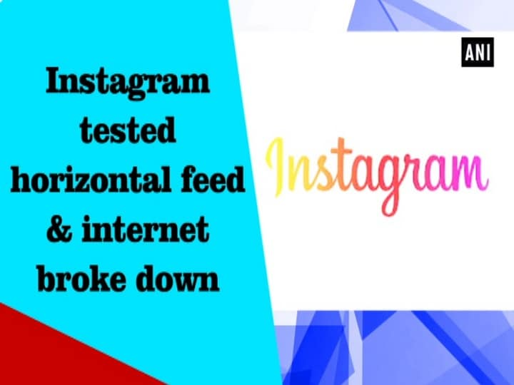 Instagram tested horizontal feed and internet broke down