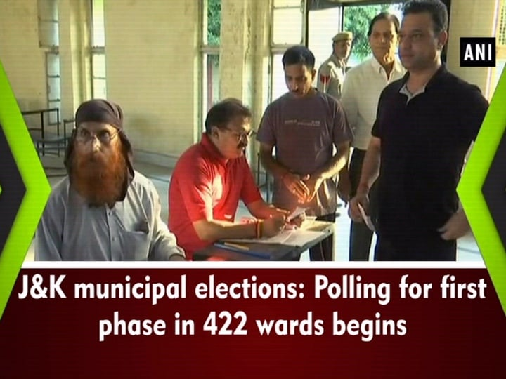J and K municipal elections: Polling for first phase in 422 wards begins