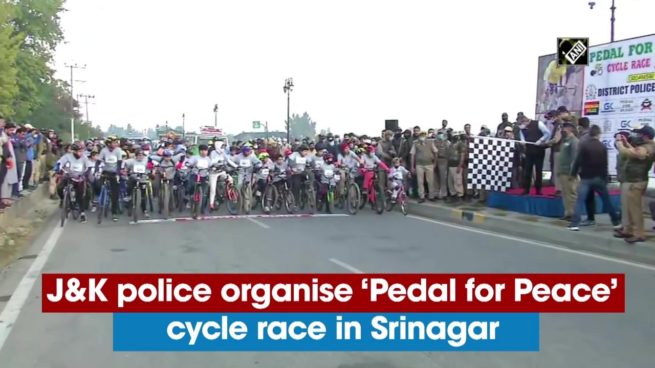 J-K police organise 'Pedal for Peace' cycle race in Srinagar