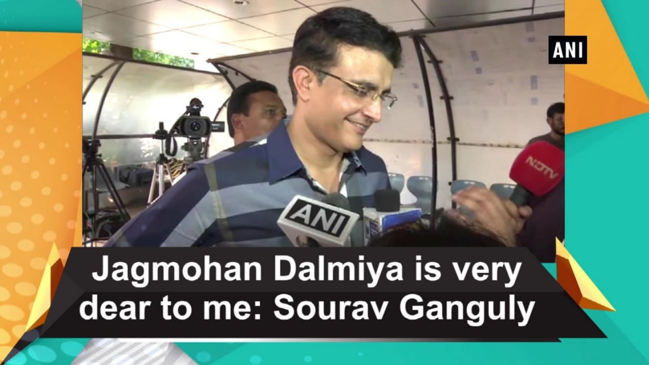 Jagmohan Dalmiya is very dear to me: Sourav Ganguly