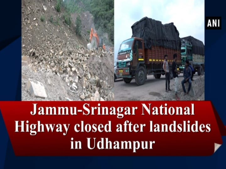 Jammu-Srinagar National Highway closed after landslides in Udhampur
