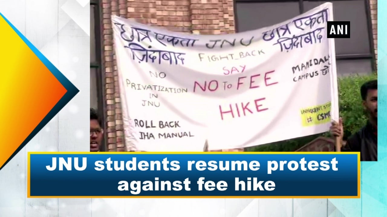 JNU students resume protest against fee hike