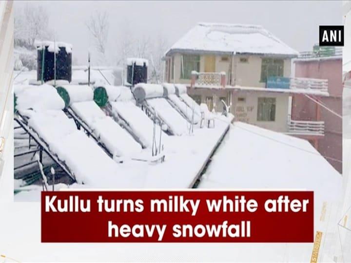 Kullu turns milky white after heavy snowfall