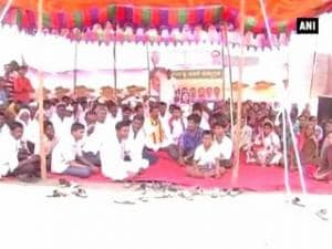Land acquisition: Farmers protest, demand compensation from state govt.