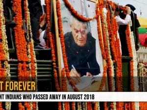 Lost forever: Eminent Indians who passed away in August 2018