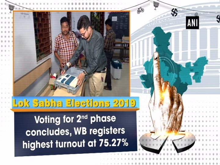 LS polls: Voting for 2nd phase concludes, WB registers highest turnout at 75.27 %