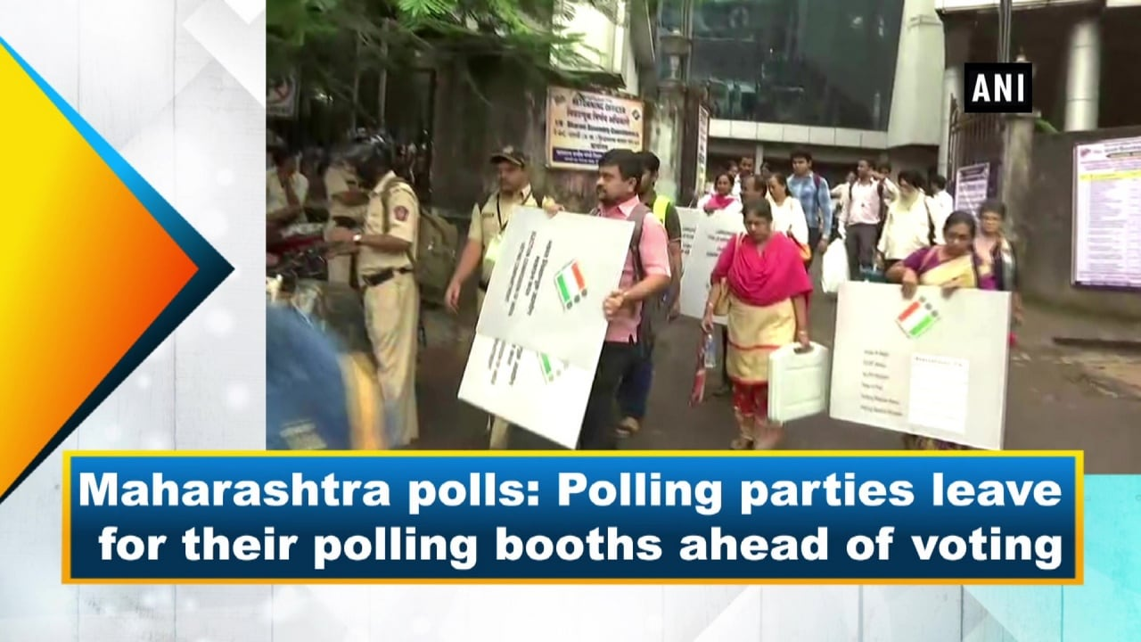 Maharashtra polls: Polling parties leave for their polling booths ahead of voting