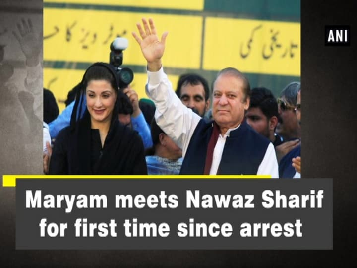 Maryam meets Nawaz Sharif for first time since arrest