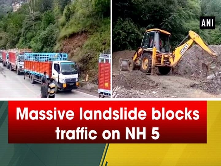 Massive landslide blocks traffic on NH 5