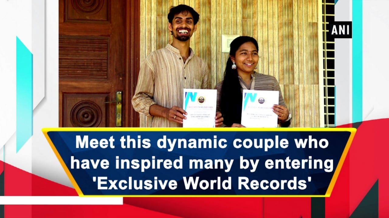 Meet this dynamic couple who have inspired many by entering 'Exclusive World Records'