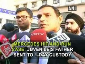 Mercedes hit-and-run case: Juvenile's father sent to 1-day custody