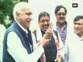 MJ Akbar files nomination papers for Rajya Sabha seat in Jharkhand