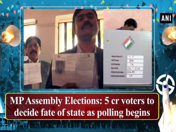 MP Assembly Elections: 5 cr voters to decide fate of state as polling begins