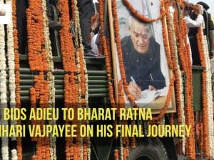 Nation bids adieu to Bharat Ratna Atal Bihari Vajpayee on his final journey