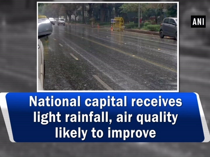 National capital receives light rainfall, air quality likely to improve