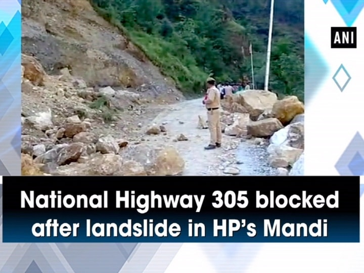 National Highway 305 blocked after landslide in HP's Mandi