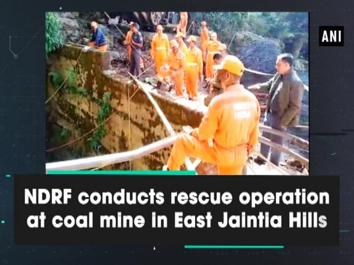 NDRF conducts rescue operation at coal mine in East Jaintia Hills