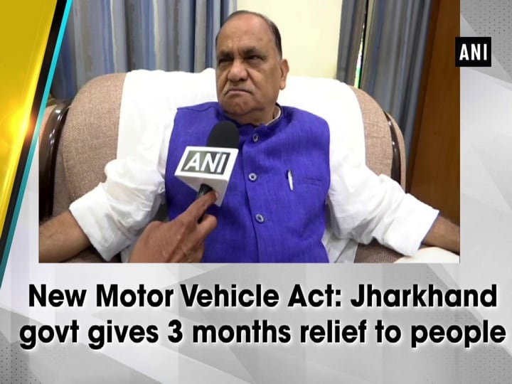 New Motor Vehicle Act: Jharkhand govt gives 3 months relief to people