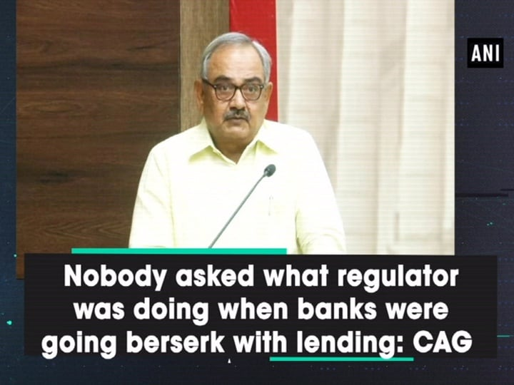 Nobody asked what regulator was doing when banks were going berserk with lending: CAG