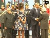 Number of political and corporate leaders attend Dinner hosted by Pranab Mukherjee for US President Obama