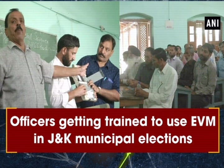 Officers getting trained to use EVM in J and K municipal elections